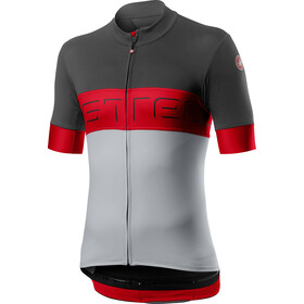 Castelli Prologo VI Maillot manches courtes Homme, dark grey/red/silver grey